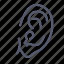 ear, noise, organ, sense, sound icon