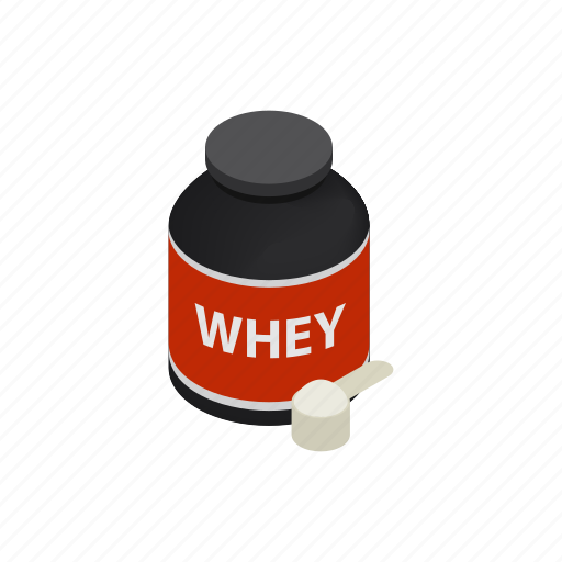 bottle, drink, healthy, isometric, power, protein, whey icon