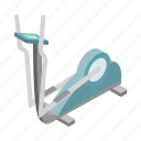 elliptical, exercise, fitness, gym, healthy, isometric, sport icon