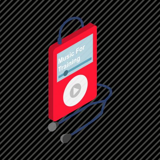 audio, headphone, isometric, mp3, music, player, technology icon