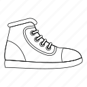 athletic, footwear, line, outline, shoe, sneaker, sport