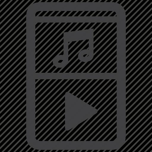 ipod, music, walkman icon