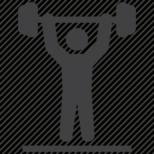 bodybuilder, lift, weight, weightlifting icon