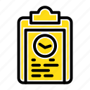 clipboard, coach, plan, progress, training icon