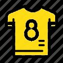 football, kit, player, shirt, soccer icon