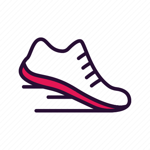 athletic, fitness, shoes, training icon