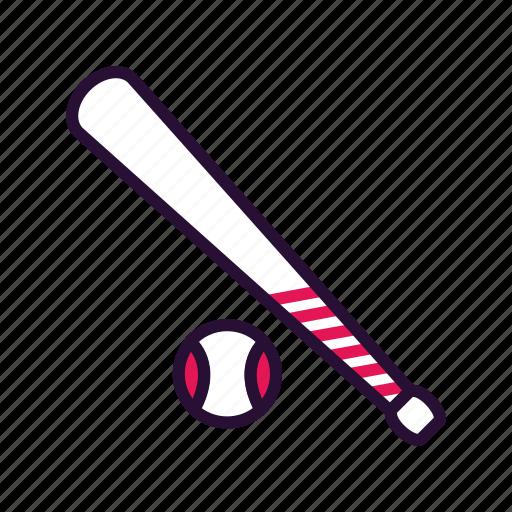 baseball, baseball bat, sport, sport equipment icon