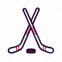 hockey, ice hockey, sport, sport equipment icon