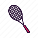 racket, sport, sport equipment, tennis icon
