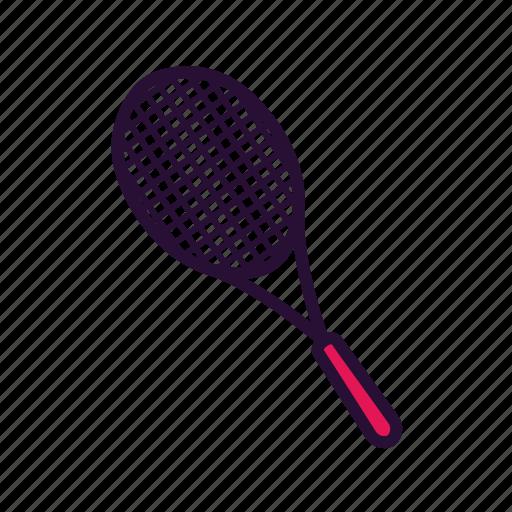 racket, sport, sport equipment, tennis icon