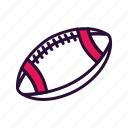 american football, rugby, sport, sport equipment icon