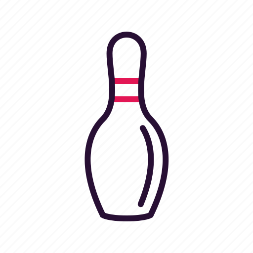 bowling, pin, sport, sport equipment icon