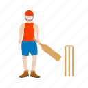 ball, bat, batsman, bowler, cricket, game, sport icon