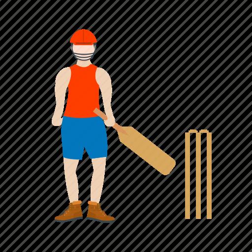 ball, bat, batsman, bowler, cricket, game, sport icon