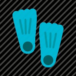 diving, fin, fins, flippers, plastic, scuba, summer icon