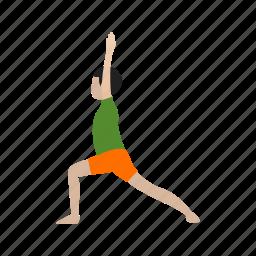 exercise, health, lifestyle, pose, relaxation, slim, yoga icon