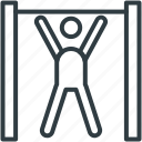 exercise, fitness, gym, gymnast, gymnastic icon