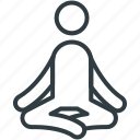 exercise, meditation, relaxation, yoga, yoga posture icon