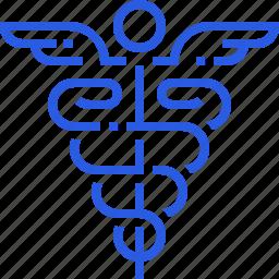 caduceus, healthcare, hospital, logo, medical, medicine, sign icon