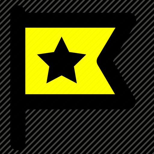 flag, important, location icon