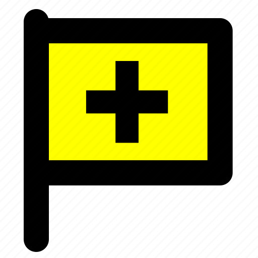 flag, help, support icon