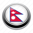 circle, country, flag, flags, nation, nepal icon