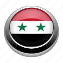 circle, country, flag, flags, nation, national, syria icon