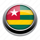 circle, country, flag, flags, nation, togo icon