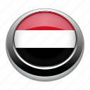 circle, country, flag, flags, nation, national, yemen icon