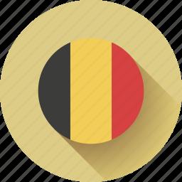 belgium, flag, round icon