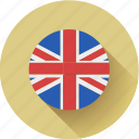 england, flag, round icon