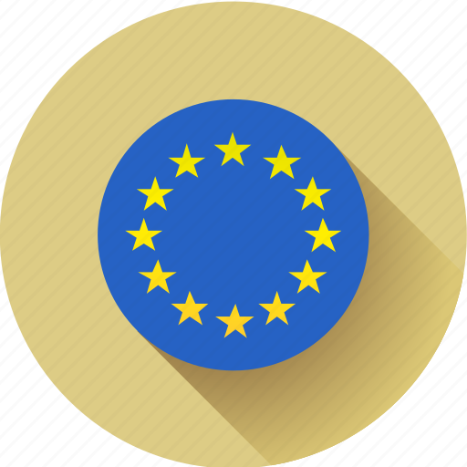 european, flag, round, union icon