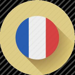 flag, france, round icon