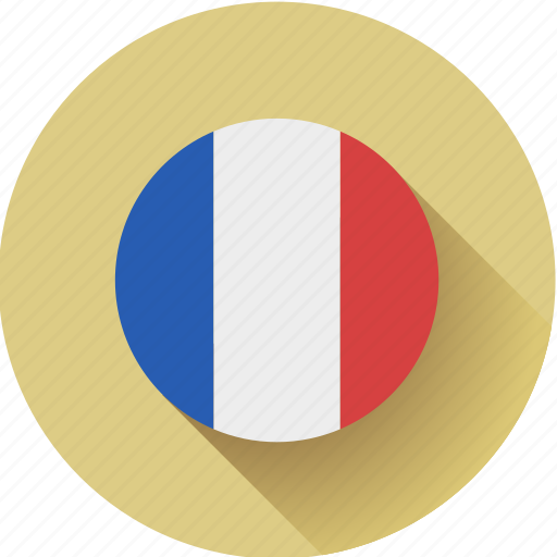 flag, france, round icon