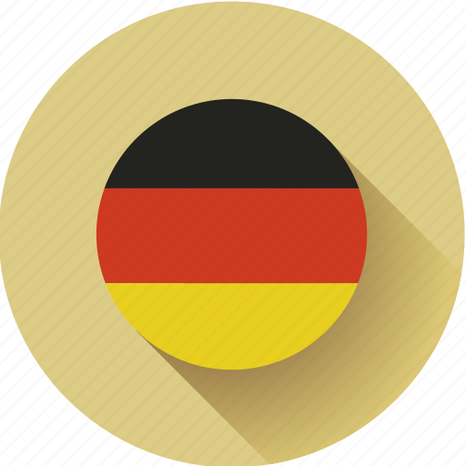 flag, germany, round icon