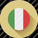 flag, italy, round icon