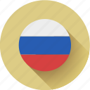 flag, round, russia icon