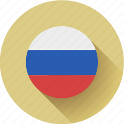 flag, round, russia icon