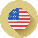 flag, round, usa icon