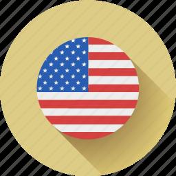 flag, round, usa icon