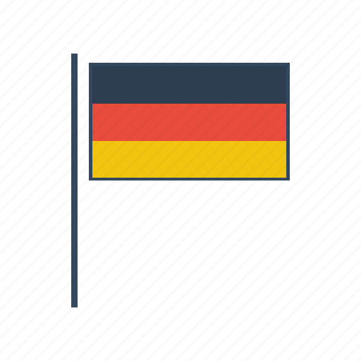 europe, flag, german, germany icon