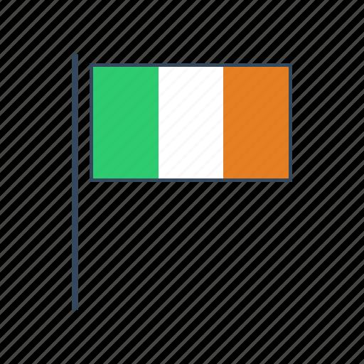 europe, flag, ireland, irish icon