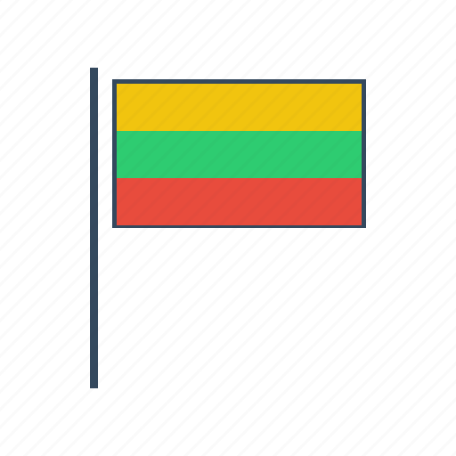 europe, lithuania, lithuanian flag icon