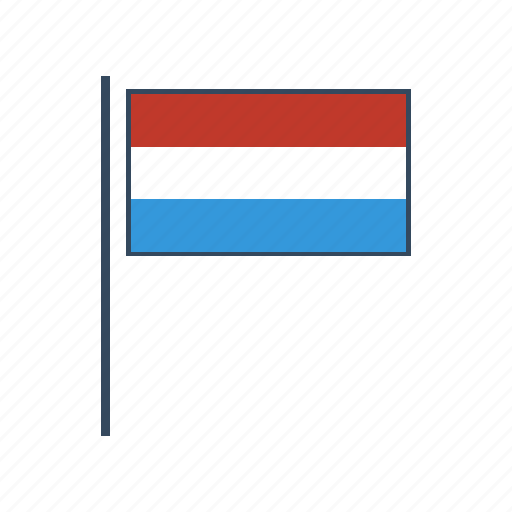 europe, flag, luxembourg icon