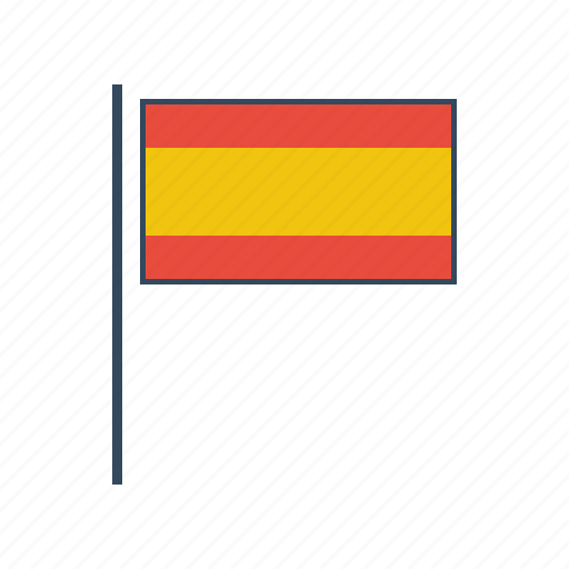 europe, flag, spain, spanish icon