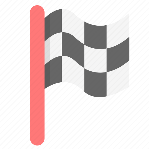 completed, flag, racing, success, win icon
