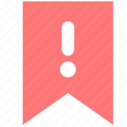 advice, flag, important, mark, notification, sign, warning icon
