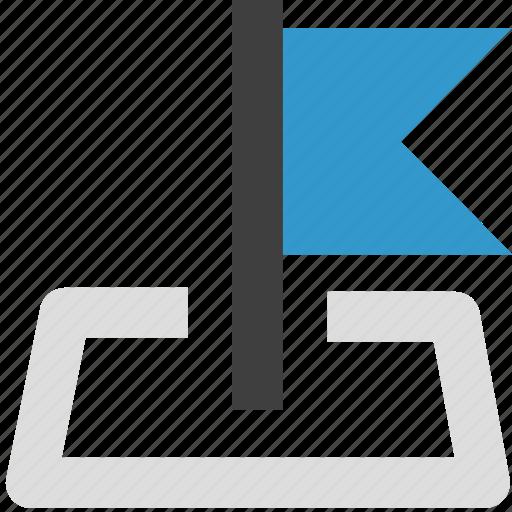 flag, location, map icon