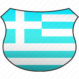 flag, greece icon