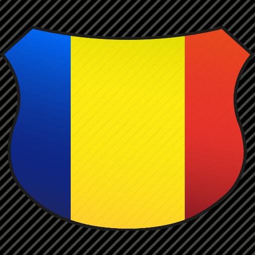 flag, romania icon